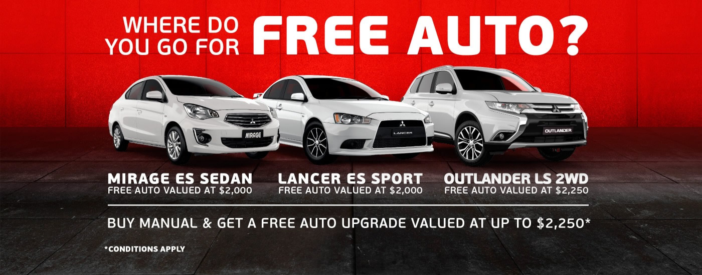 Mitsubishi August Special offers Free Auto